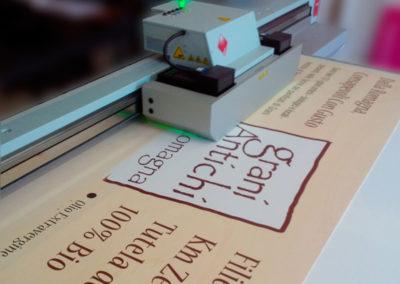 Pannello dibond con stampa bianco