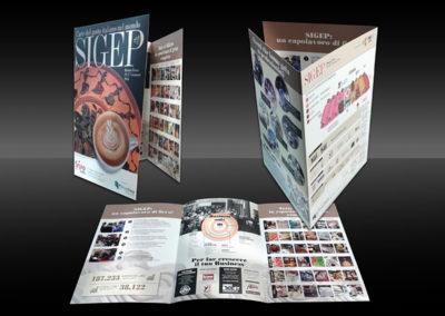 Brochure plastificata, cordonata e piegata