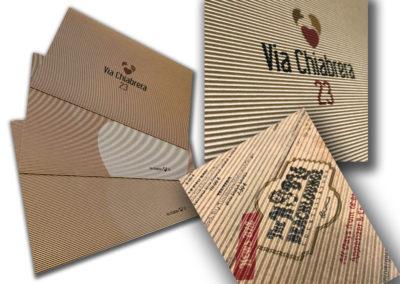 Tovagliette ristorante stampate su cartone ondulato con bianco serigrafico