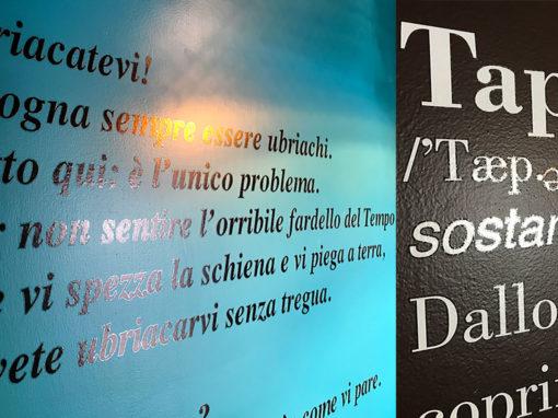 Stampa e intaglio su trasparente murale
